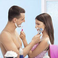 Couple Shaving